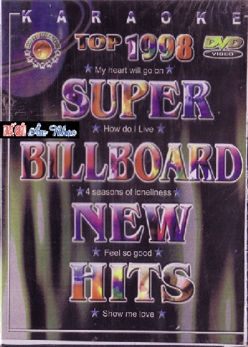 DVD Karaoke English :Super Billboard New Hist #1 , HUY TRAN